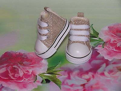 SHOES FOR THE DIANNA EFFNER LITTLE DARLINGS DOLL CUTE TAN TENNIS SNEAKERS