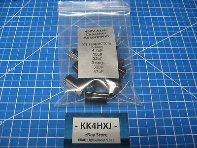 Sc - Gha Series - Axial Electrolytic Cap Assortment - 450v - 5 Values - 21 Pcs