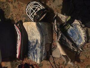 Street hockey goalie gear