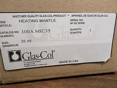 GLAS-COL 100A Micro Fabric Hemispherical Heating Mantle 35mL Flask Capacity (Flask Heating Mantles)