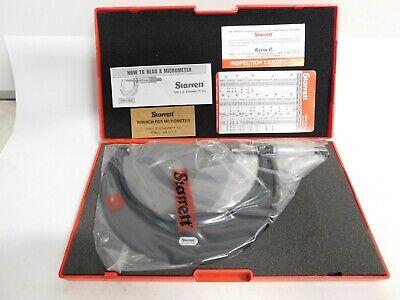New Starrett 5-6 Inch Model 436.1rl-6 Outside Micrometer New Made In Usa