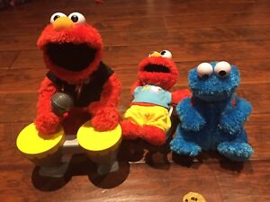 Rock and Roll Elmo, Cookie Monster and Potty Elmo
