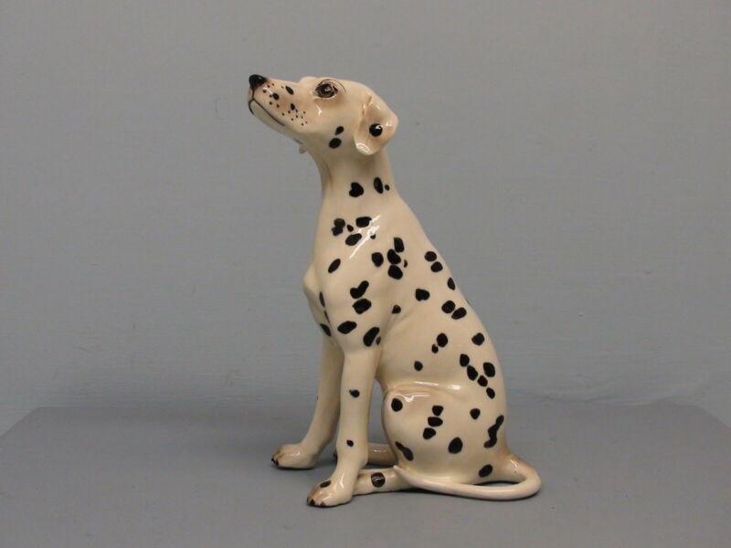 Old  Glossy Hagen Renaker DW Dalmatian Dog Spooky