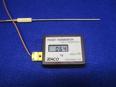 Jenco 701 Pocket Thermometer Thermocouple Type K Range -50 To 1000