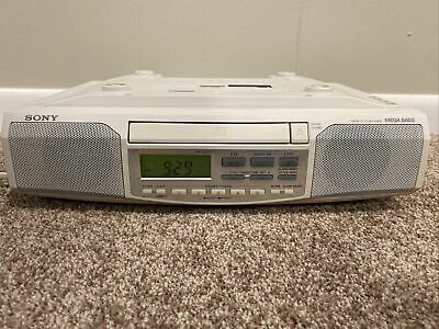 Sony ICF-CD513 Under Cabinet Counter Clock Radio AM FM CD Player - TESTED