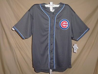 """CHICAGO CUBS  """"Charcoal Fashion"""" Big & Tall JERSEY by Majestic 3XLT  NWT"""