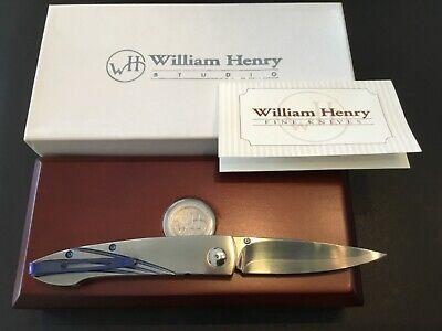 Custom William Henry Knives B10 FTII Pocket Clip Flipper Folder Folding Knife