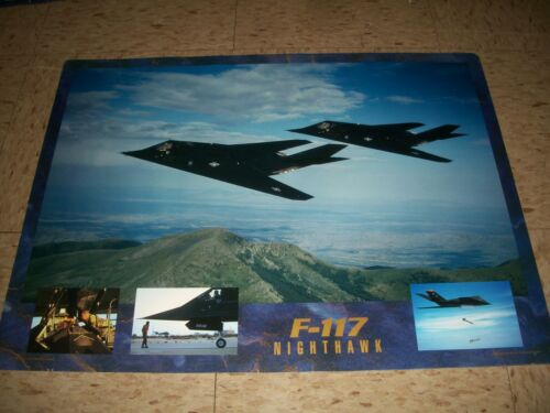 1992 Recruitment AIR FORCE poster F-117 NIGHTHAWK 18x24 Stealth Bomber
