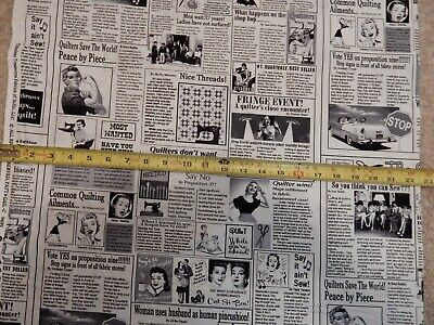Newspaper sewing sew quilt quilting news C9699 durable cotton novelty Fabric (Novelty Quilt Fabric)