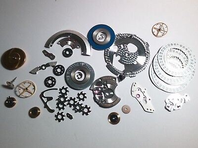 Rolex parts - 1 lot of miscellaneous parts-for watch repair(3035?)plate, barrel