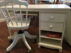 Pottery Barn Kids White Desk With Chair