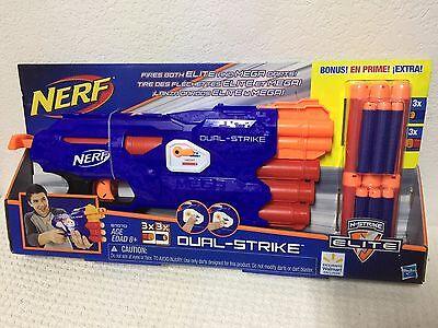 Nerf N Strike Elite Dual Strike Blaster Value Pack Mega Whistler Darts Unisex