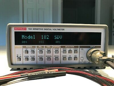 Keithley 182 Sensitive Digital Voltmeter W Custom Leads And Extra Connectors