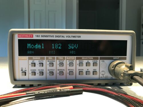 Keithley 182 Sensitive Digital Voltmeter w/ custom leads and extra connectors!!!