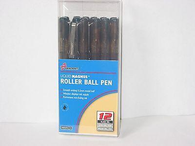 Skilcraft 7520-01-461-2660 Liquid Magnus Roller Ball Pen Black 12pk  Nib