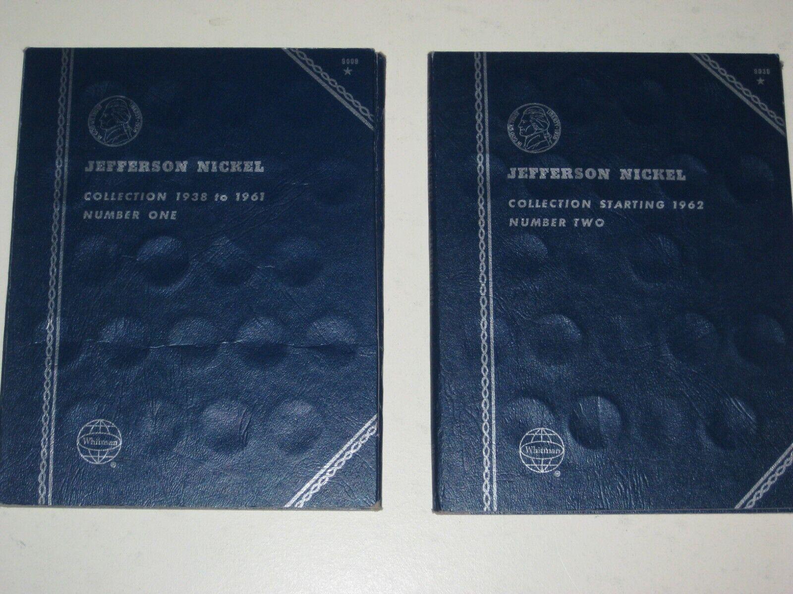 1938-1961 1962- Jefferson Nickel Whitman Folders Set Of 2 Lot II - $1.39