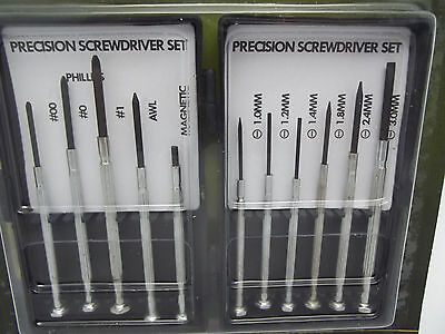 11 Precision Screwdrivers + Magnet for Watches Eyeglasses + Tools Supply Jewelry