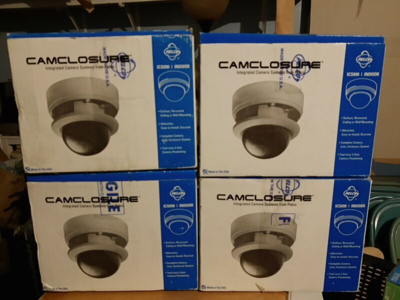 Lot of 4 , Pelco IC S090 CRV3AT Camclosure Surface Mount Or Cutout