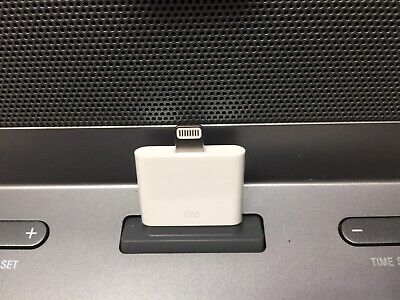 Sony IPHONE DOCK /DUAL ALARM CLOCK RADIO APPLE 30 Pin To 15 Pin Lightning