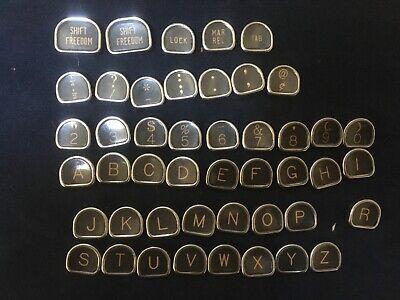 Vintage Typewriter Antique Keys Crafts Jewelry; Glass, Flat Backs;  46count