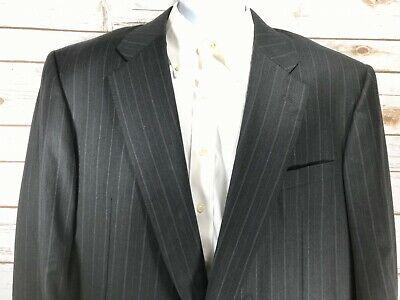 Hickey Freeman Charcoal LORO PIANA TASMANIAN 130's Wool Suit Jacket Pants 46 R