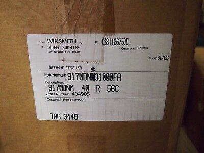 Winsmith Speed Reducer D90 Type Se .44hp 401 Ratio 56c 917mdns31000fa