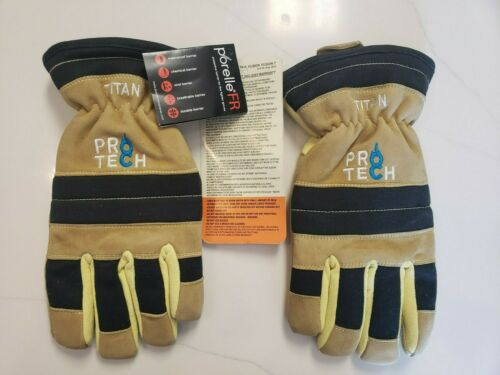 Protech 8 Titan Structural Firefighting Gloves Firefighter Fire Rescue X-Large