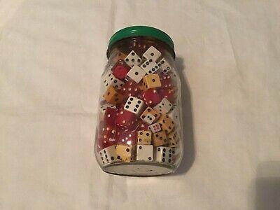 HUGE Lot Of 185 Vintage Dice Ceramic Red Lucite Bakelite Wood Casinos Gaming!!!