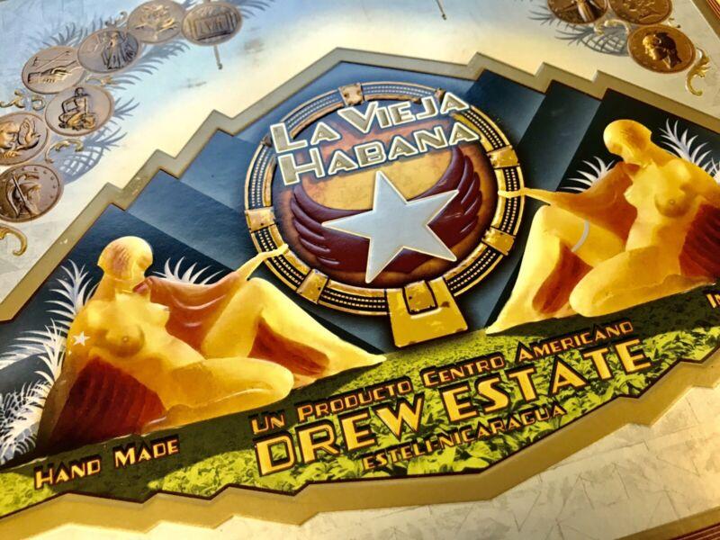 La Vieja Habana Cigar Box Label, with Fine Art Matting, 14 x 11