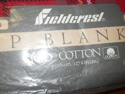 Lap Tapestry Throw Blanket (Fieldcrest Plaid 100% Cotton Lap Blanket Throw Tapestry 50