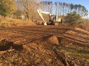 Excavation services flood clean up lot restoration
