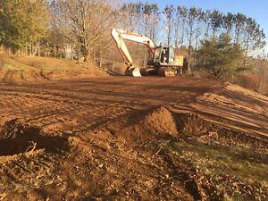 Excavation services flood clean up lot restoration
