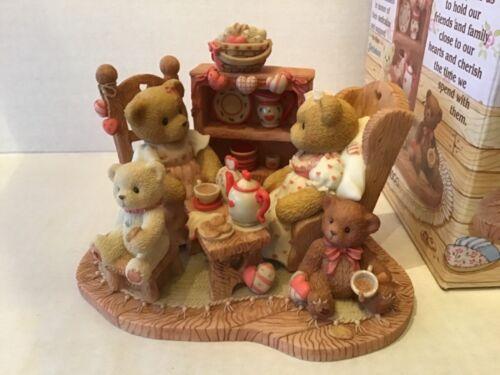 "Cherished Teddies Figurine ""Stephanie and Melanie"" New in Box and COA"