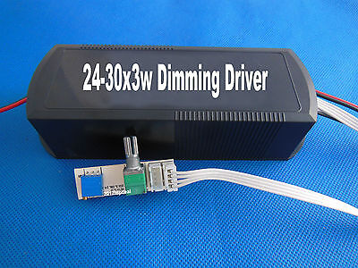 24-30x3w Dimmable Led Driver Power Supply Ac100240v Input70v-100v 550madimmer