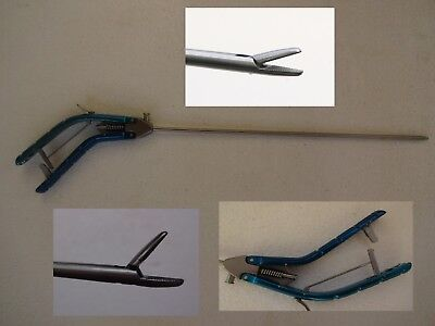 Laparoscopy Straight Tips Needle Holder Storz Type Carbide Tc 5mm Pistol Style