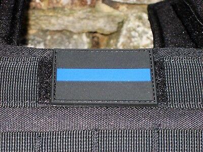 Klettpatch Rubberpatch ca. 6 x 4cm thin blue line Deutschland Polizei