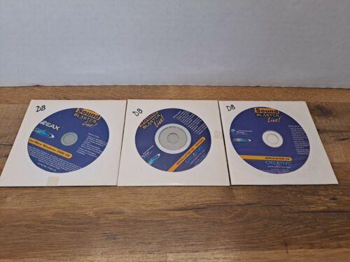 Creative Sound Blaster Live Installation Drivers Windows 2000 (3 CDs) Software