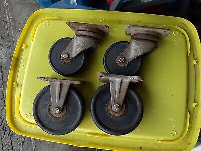 4 Industrial 5and 6casters Wheels 2 Rigid 2 Swivel Kilian Mfg