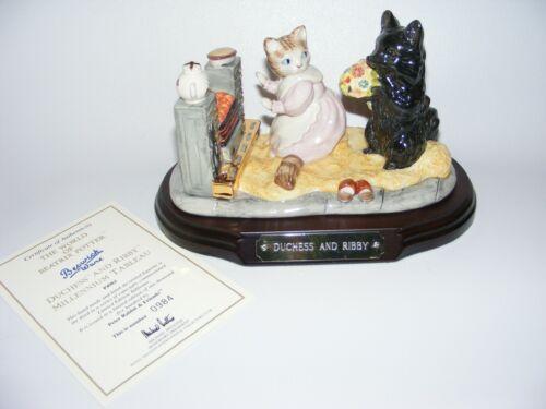 Beswick Beatrix Potter figurine DUCHESS and RIBBY tableau LMT ED