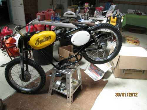 DEEP DISH NUMBER PLATE FOR INDIAN MM5A BAMBINO AND SUPER SCRAMBLER MODELS