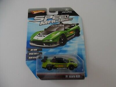 Hot Wheels Speed Machines Green '01 Acura NSX