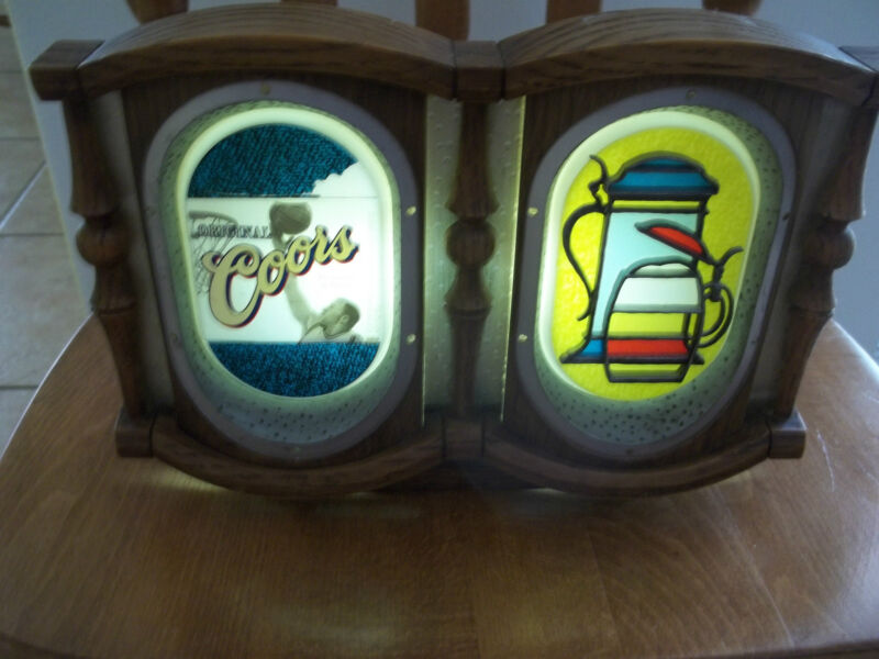 Vintage Coors Lighted Beer Sign