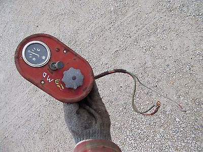 Farmall Ih Md Tractor Amp Gauge Box Cover Panel Light Swith Ih Gauge