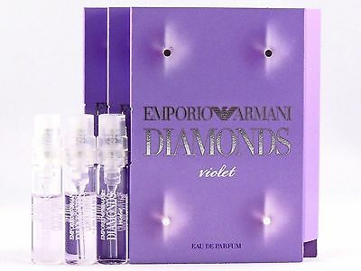 GIORGIO ARMANI EMPORIO ARMANI DIAMONDS VIOLET EDP 1.5ml .05oz x 3 SPRAY SAMPLES