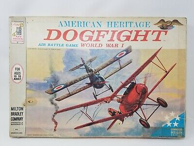 American Heritage DOGFIGHT 4302 World War I Air Battle Game 1962 Milton Bradley