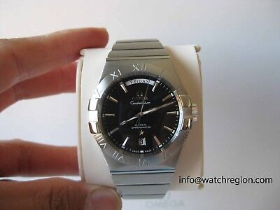 NEW UNWORN OMEGA CONSTELLATION DAY DATE CO-AXIAL WATCH 123.10.38.22.01.001