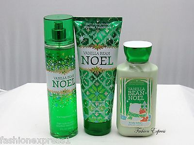 Bath & Body Works Vanilla Bean Noel Body Mist + Body Loti...