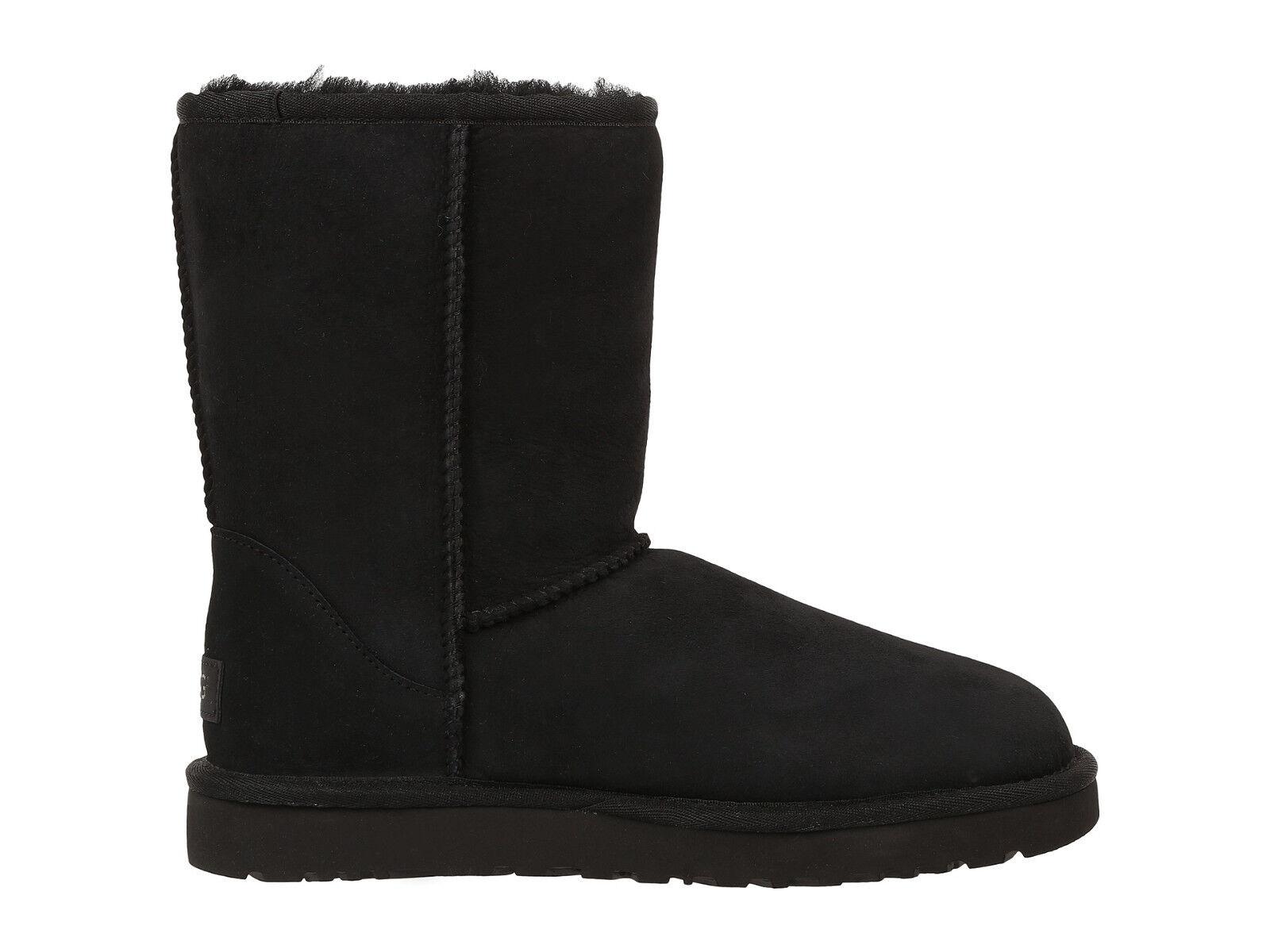 Women UGG Australia Classic Short II Boot 1016223 Black Twinface 100% Authentic