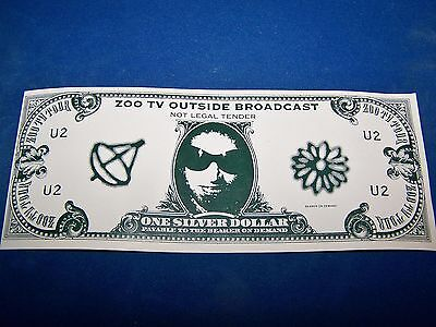 1992 U2 ZOO TV Tour Outside Broadcast, One Silver Dollar - OFFICIAL UNCIRCULATED