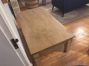 Large coffee table $200